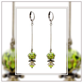 Birthe ° The Calm Spirit ° Rhinestone Dangle Earrings * Designed and Manufactured by Elfgard® Germany