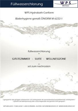 Bäderhygiene g. ÖNORM M6222-1 auch in Ihrem Hotel. Problemlos bei Fremdwannen u. systemen nachrüstbar.