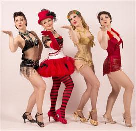 Burlesque-Ensemble der roten Bühne Nürnberg