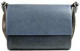 sac main en cuir bleu, Cirrus Saule Paris, Label Fabriqué à Paris