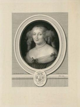 Une des plus célèbres de Rousseaux : le portrait de la Marquise de Sévigné, gravé en 1874 au burin, chalcographie du Louvre (tirage de l'ENSBA)
