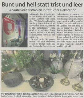Artikel der Altmarkzeitung am 17. 12. 2020
