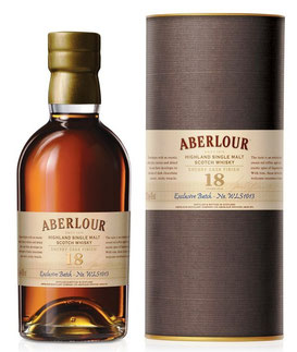 Aberlour 18 Jahre, Sherry Cask Finish 0,7 ltr. Exclusive Batch - No. WLS 1013, La Maison du Whisky