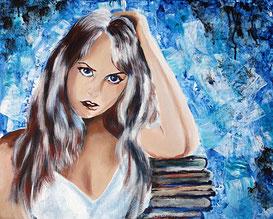 Porträt Gemälde © Christiane Ros