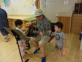 ギターにタッチ!!!!