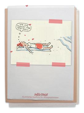 Zeichung Frau entspannt Strand Elbe Fluss Meer - Judith Ganter - Illustriertes Kopfkino für Alltagsoptimisten - Tagebuchprojekt Achtsamkeit - 9 KREATIVE IDEEN FÜR MEHR ACHTSAMKEIT IN DEINEM ALLTAG - INSPIRATION FÜR DEIN EIGENES TAGEBUCH