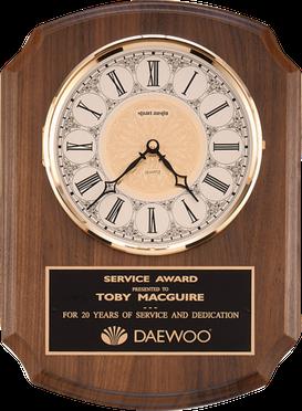 american walnut clock plaque