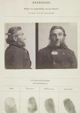 Signalementkaart Veenhuizen opname 24-11-1896
