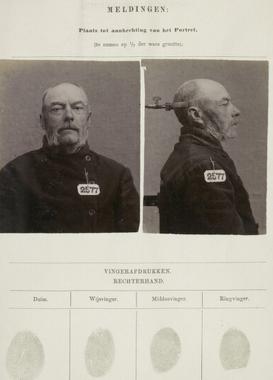 Signalementkaart Veenhuizen opname 23-05-1896