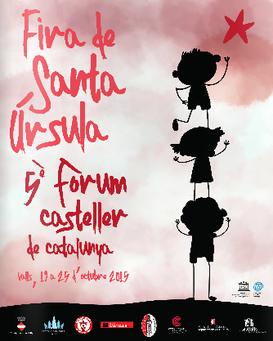 Fira de Santa Úrsula en Valls 2015 Cartel y Programa