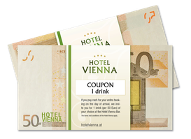Hotel Vienna coupon 1 drink
