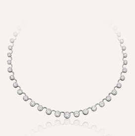 "Bridal Jewelry ""Rivière"" Necklace by Koenig® Jewellery - 100% swiss handmade"