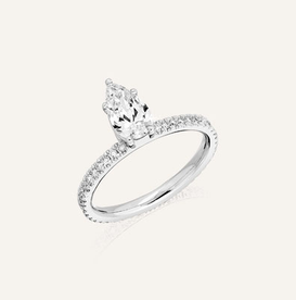 "Engagement Ring "" Poire"" by Koenig® Jewellery - 100% swiss handmade"