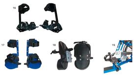Fußfixierungen für das Pfau Tec Combo Dreirad