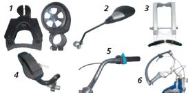 Lenkhilfen für Dreiräder