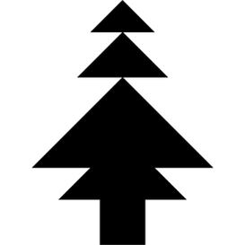 Tangram puzzle 261 : Pine - Visit http://www.tangram-channel.com/ to see the solution to this Tangram