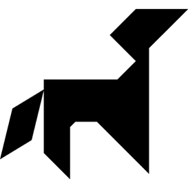 Tangram puzzle 192 : Dog - Visit http://www.tangram-channel.com/ to see the solution to this Tangram