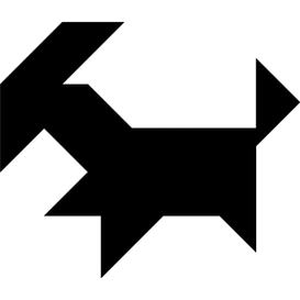 Tangram puzzle 145 : Goat - Visit http://www.tangram-channel.com/ to see the solution to this Tangram