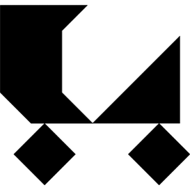 Tangram puzzle 178 : Carriage - Visit http://www.tangram-channel.com/ to see the solution to this Tangram