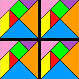4 tangrams