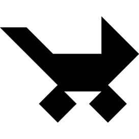 Tangram puzzle 140 : Pram - Visit http://www.tangram-channel.com/ to see the solution to this Tangram