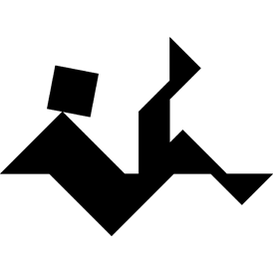 Tangram puzzle 157 : Man falling - Visit http://www.tangram-channel.com/ to see the solution to this Tangram