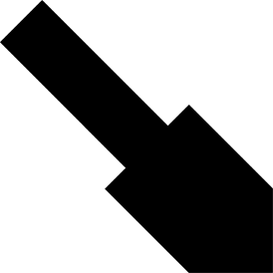 Tangram puzzle 229 : Trowel - Visit http://www.tangram-channel.com/ to see the solution to this Tangram