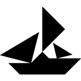Tangram puzzle 224 : Ship - Visit http://www.tangram-channel.com/ to see the solution to this Tangram