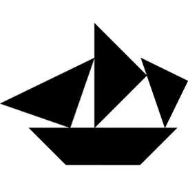 Tangram puzzle 172 : Frigate - Visit http://www.tangram-channel.com/ to see the solution to this Tangram