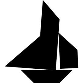 Tangram puzzle 162 : Yawl - Visit http://www.tangram-channel.com/ to see the solution to this Tangram