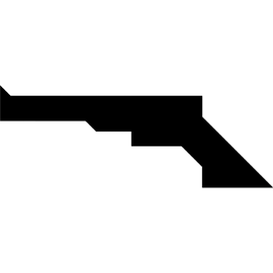 Tangram puzzle 154 : Gun - Visit http://www.tangram-channel.com/ to see the solution to this Tangram