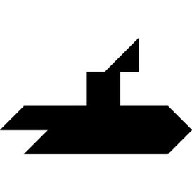 Tangram puzzle 139 : Submarine - Visit http://www.tangram-channel.com/ to see the solution to this Tangram