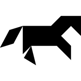 Tangram puzzle 264 : Pony - Visit http://www.tangram-channel.com/ to see the solution to this Tangram