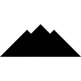 Tangram puzzle 146 : Mountains - Visit http://www.tangram-channel.com/ to see the solution to this Tangram