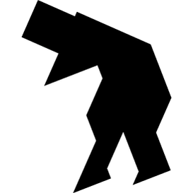 Tangram puzzle 136 : Old man - Visit http://www.tangram-channel.com/ to see the solution to this Tangram