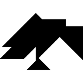 Tangram puzzle 142 : Crow - Visit http://www.tangram-channel.com/ to see the solution to this Tangram