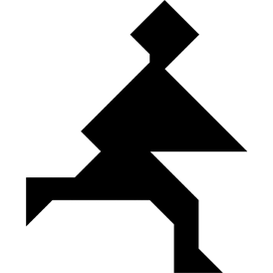Tangram puzzle 191 : Running - Visit http://www.tangram-channel.com/ to see the solution to this Tangram