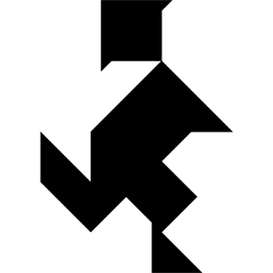Tangram puzzle 185 : Child - Visit http://www.tangram-channel.com/ to see the solution to this Tangram