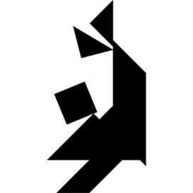 Tangram puzzle 215 : Acrobat - Visit http://www.tangram-channel.com/ to see the solution to this Tangram