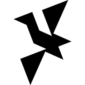 Tangram puzzle 228 : Bird - Visit http://www.tangram-channel.com/ to see the solution to this Tangram
