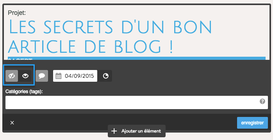 Jimdo, rendre public un article de blog