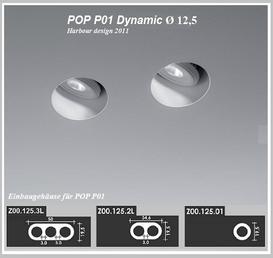 POP P01 - Einbaustrahler - Dynamic - Dm 12,5 cm