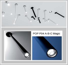 POP P04A-Magic (25 cm) + POP P04B-Magic (40 cm), 13,1 Watt, weiss oder schwarz