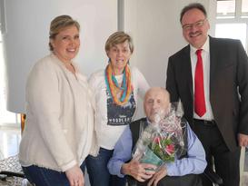 von links: Claudia Jäger, Klara Lensing, Leo Fankhauser, Ortsvorsteher Günter Jäger