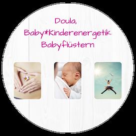 Mit einem klick aufs Bild gelangst du direkt zum Thema Doula & Geburtsbegleitung, Baby- und Kindernergetik, Babyflüstern