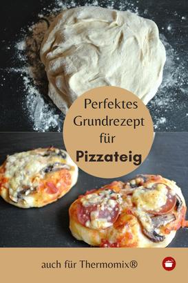 Grundrezept Pizzateig - auch für Thermomix #pizza #thermomixrezepte