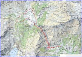 una cartina topografica
