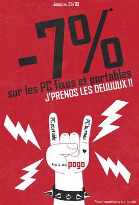 PROMO - 7% sur les PC fixes et portables, jusqu'au 26 mars 2017, code POGO ! Par ici : http://www.ldlc.com/n4064/#523d712af1ceb