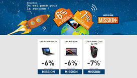 PROMO - Allez hop ! Une promo jusqu'au 20/08/2017 pour changer votre PC avant la rentrée ;)http://www.ldlc.com/n4306/#523d712af1ceb