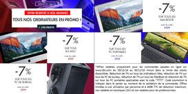 Nos ordinateurs PC et MAC en promo ! 7% jusqu'à demain, code 7777 !